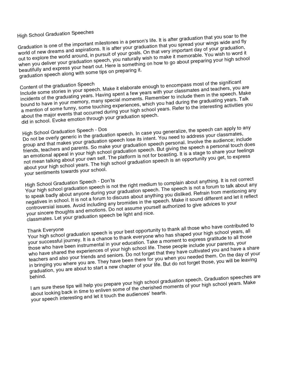 003 High School Graduation Essay Day Example L Rare Ceremony Full