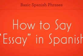 003 How Do You Say Essay In Spanish Example Zv To Promo Top U Persuasive