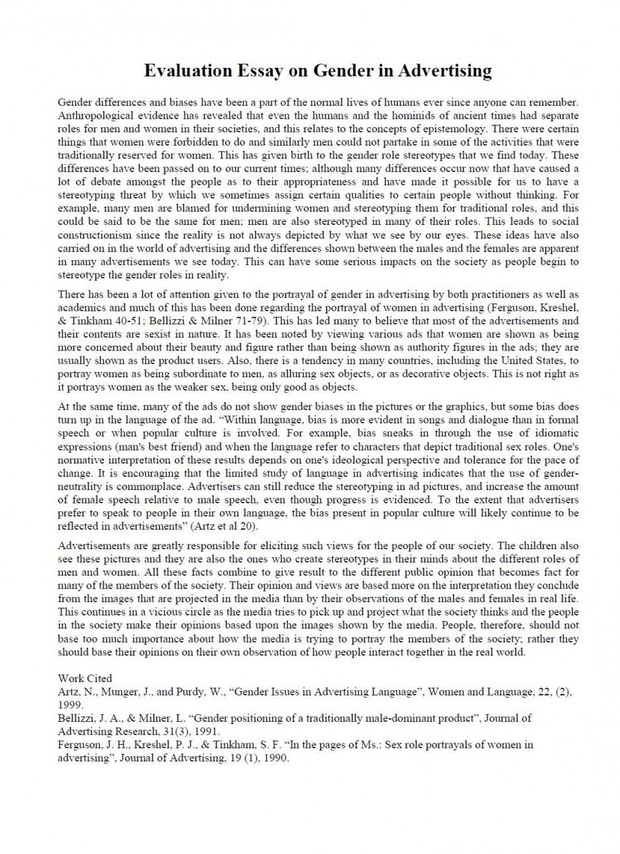 003 How To Write An Evaluation Essay Example Outstanding On A Tv Show Self Sample