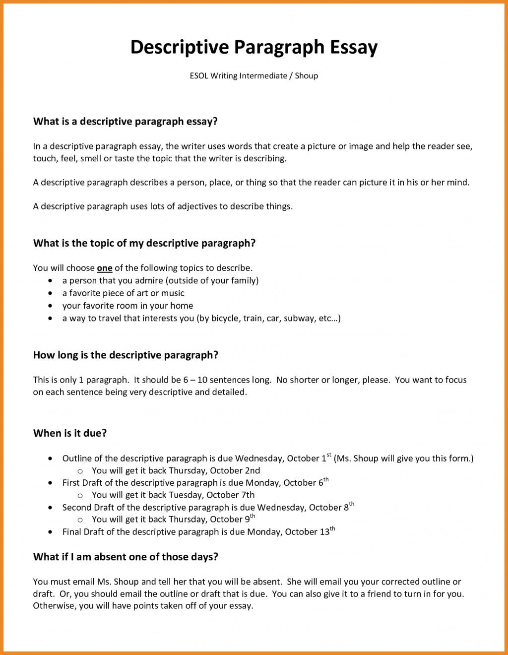 003 How To Write Descriptive Essay Example Of About Place L Awesome Writing A Paragraph Ppt Large