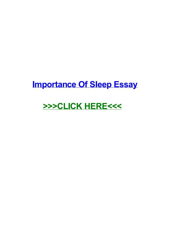 003 Importance Of Sleep Essay Page 1 Breathtaking Pdf Spm Speech Large