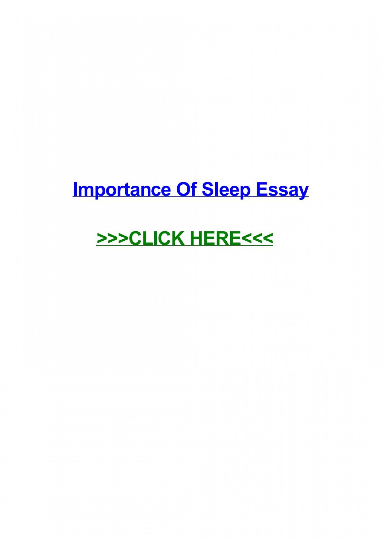 003 Importance Of Sleep Essay Page 1 Breathtaking Pdf Spm Speech 1920