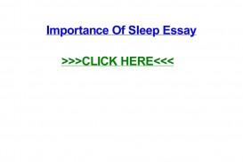 003 Importance Of Sleep Essay Page 1 Breathtaking Pdf Spm Speech