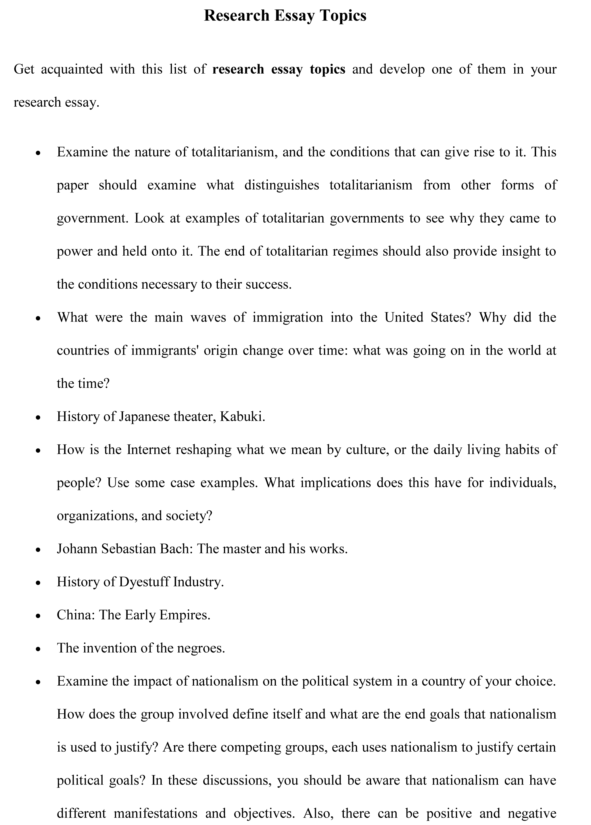 003 Interesting Essay Topics Example Research Amazing Descriptive To Write About For Grade 8 In Urdu Synthesis Full