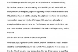003 Into The Wild Essay Example Impressive Writing Prompts Titles Discussion Questions Chapter 2