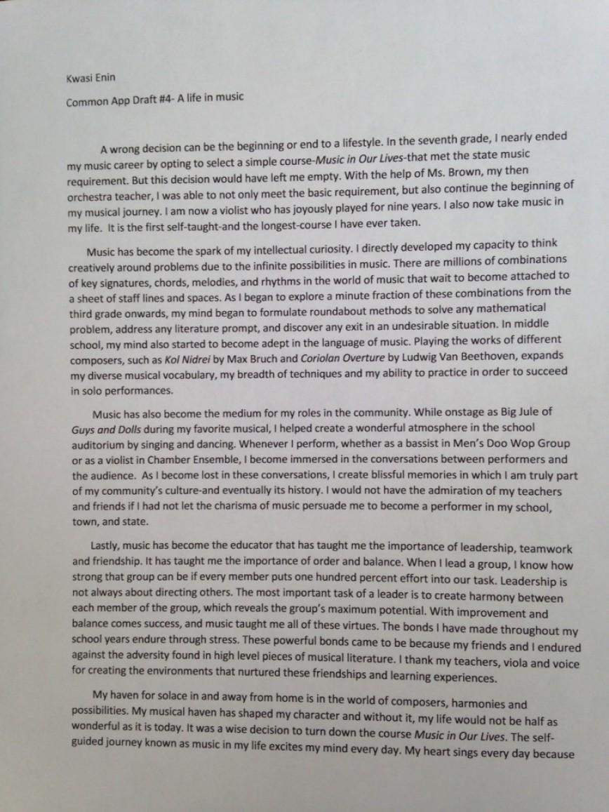 003 Kwasi Enin S College Essay Conversion Gate02 Thumbnail Ivy League Essays Singular Editing 2017 Tips