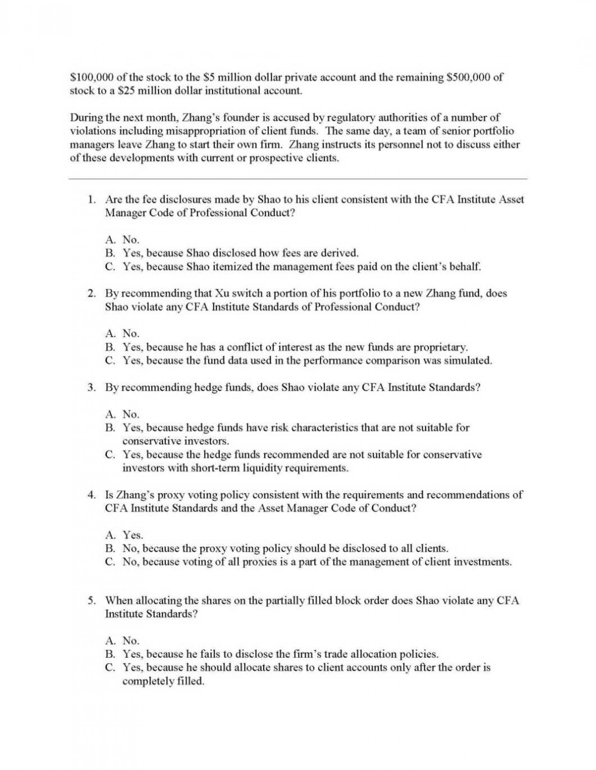 003 Level Iii Exam Question Paper Essay Example Stirring Cfa 3 Tips Sample Questions Examples 1920