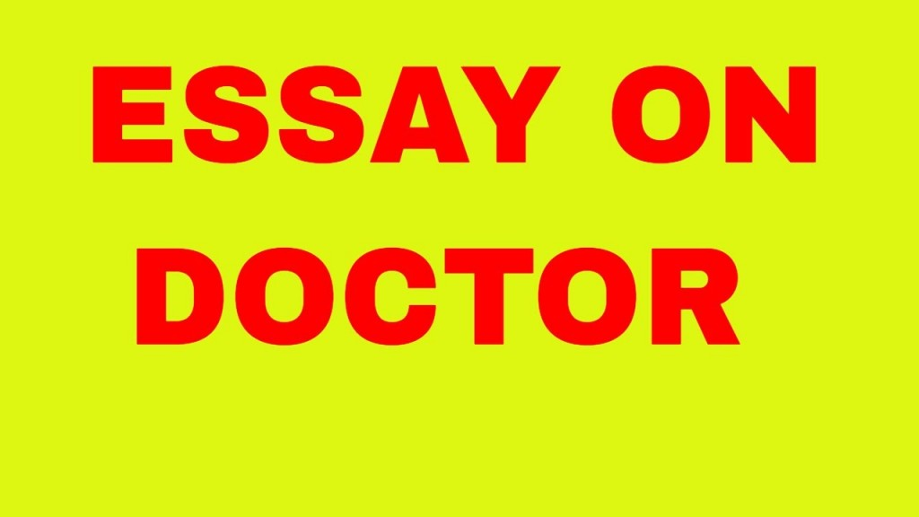 003 Maxresdefault Essay About Doctor Impressive In Tamil Language Become A Large