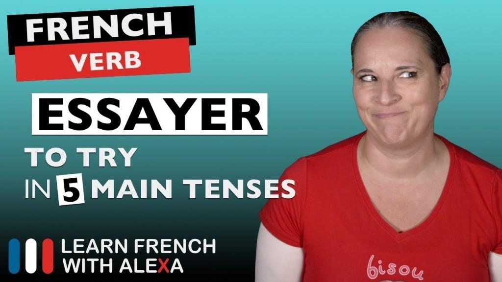 003 Maxresdefault Essay Example Essayer Beautiful French Conjugation Future Futur Simple Large