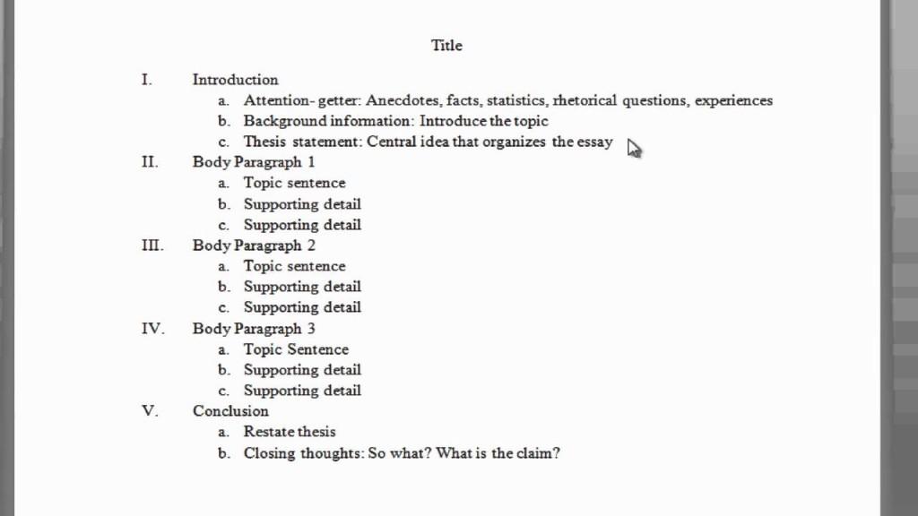 003 Maxresdefault Essay Example Outline Impressive Of Argumentative Sample Mla Format Large