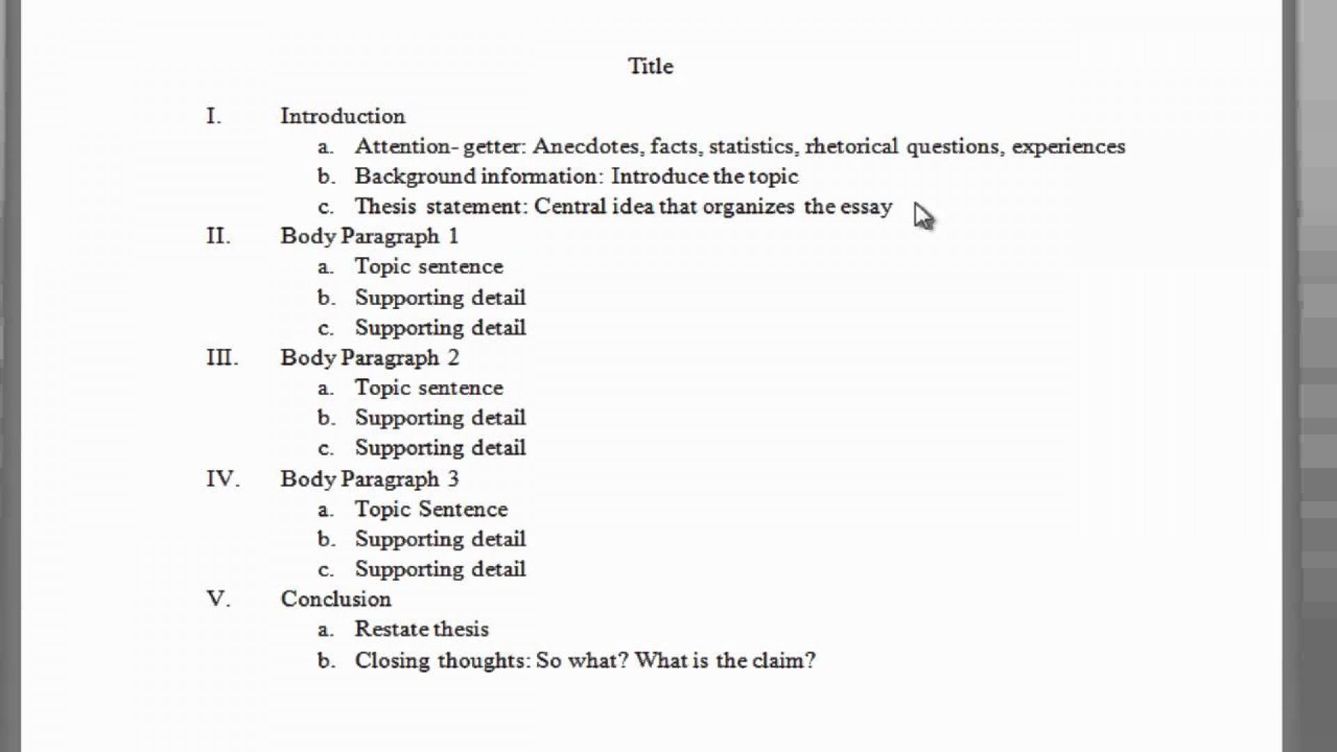 003 Maxresdefault Essay Example Outline Impressive Of Argumentative Sample Mla Format 1920