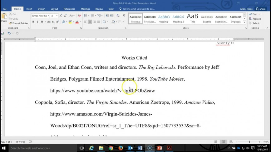 003 Maxresdefault How To Cite Movie In An Essay Sensational A Title Film Apa Mla