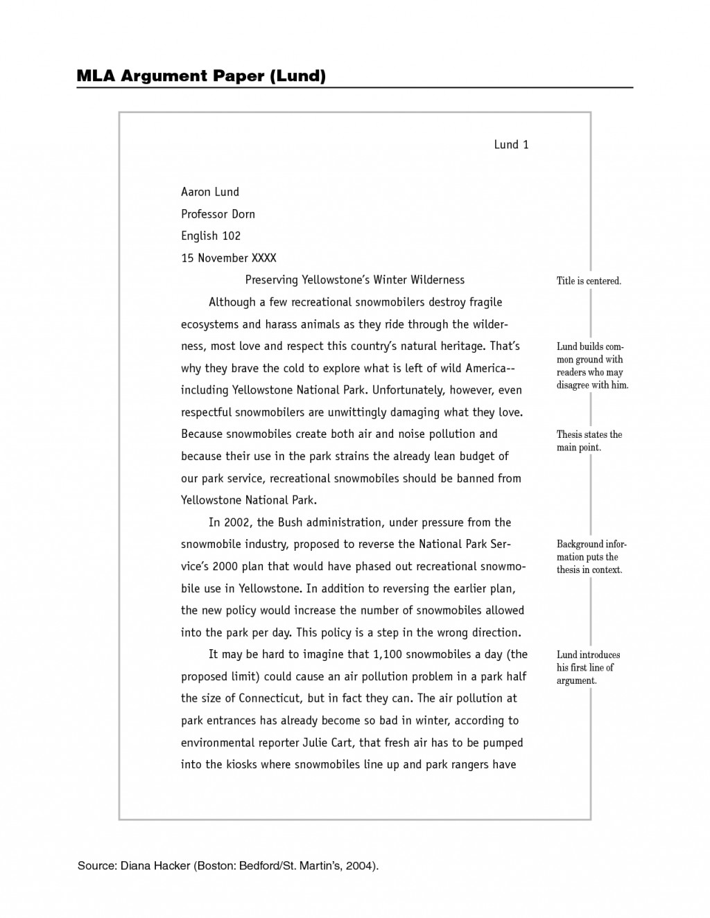 003 Mla Format Example Paper 309602 Rare Essay Style Pdf Large