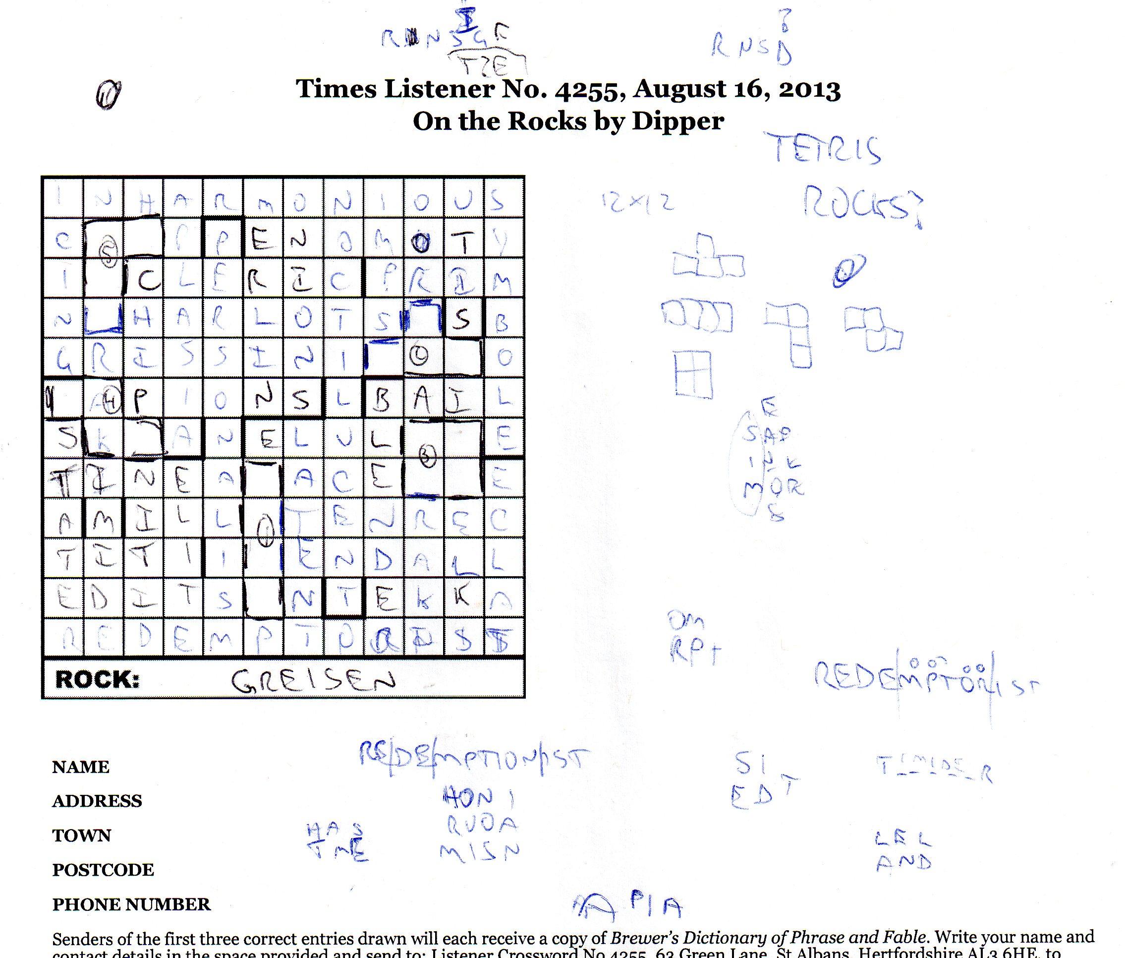 003 Name In Essays Crossword Clue Listener4256 Essay Excellent Full