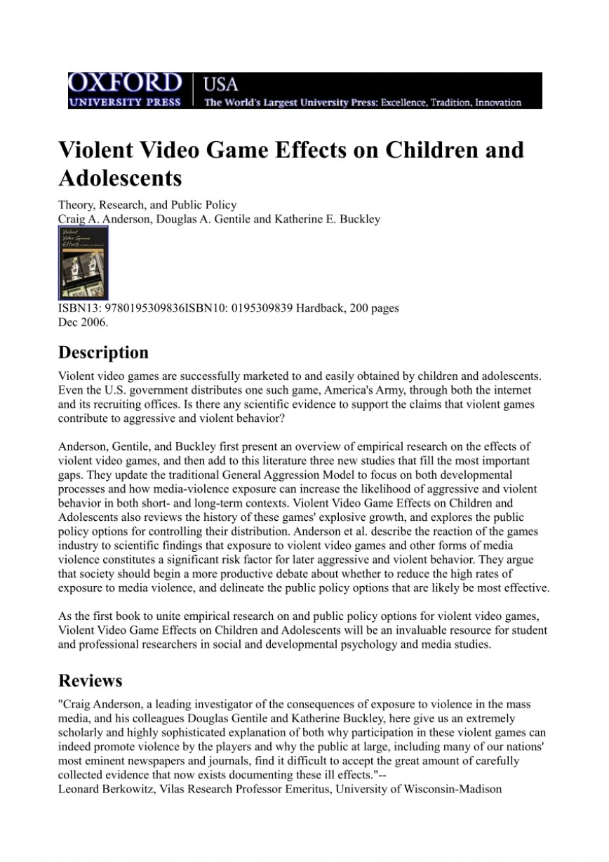 003 Negative Effects Of Video Games Essay Largepreview Top Good 10 Spm