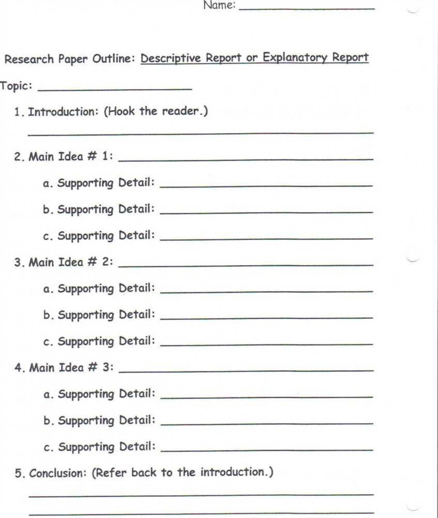 010 Descriptive Essay Outline Example Family Narrative ...
