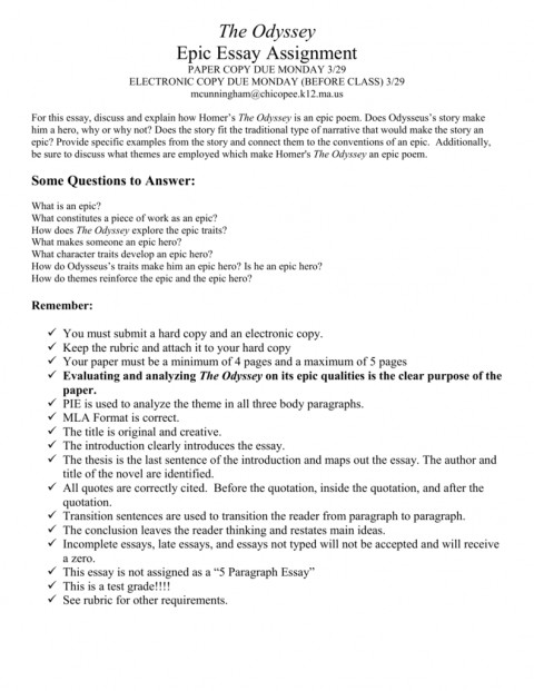 003 Odyssey Essay Topics 008040788 1 Amazing Hero Prompt 480