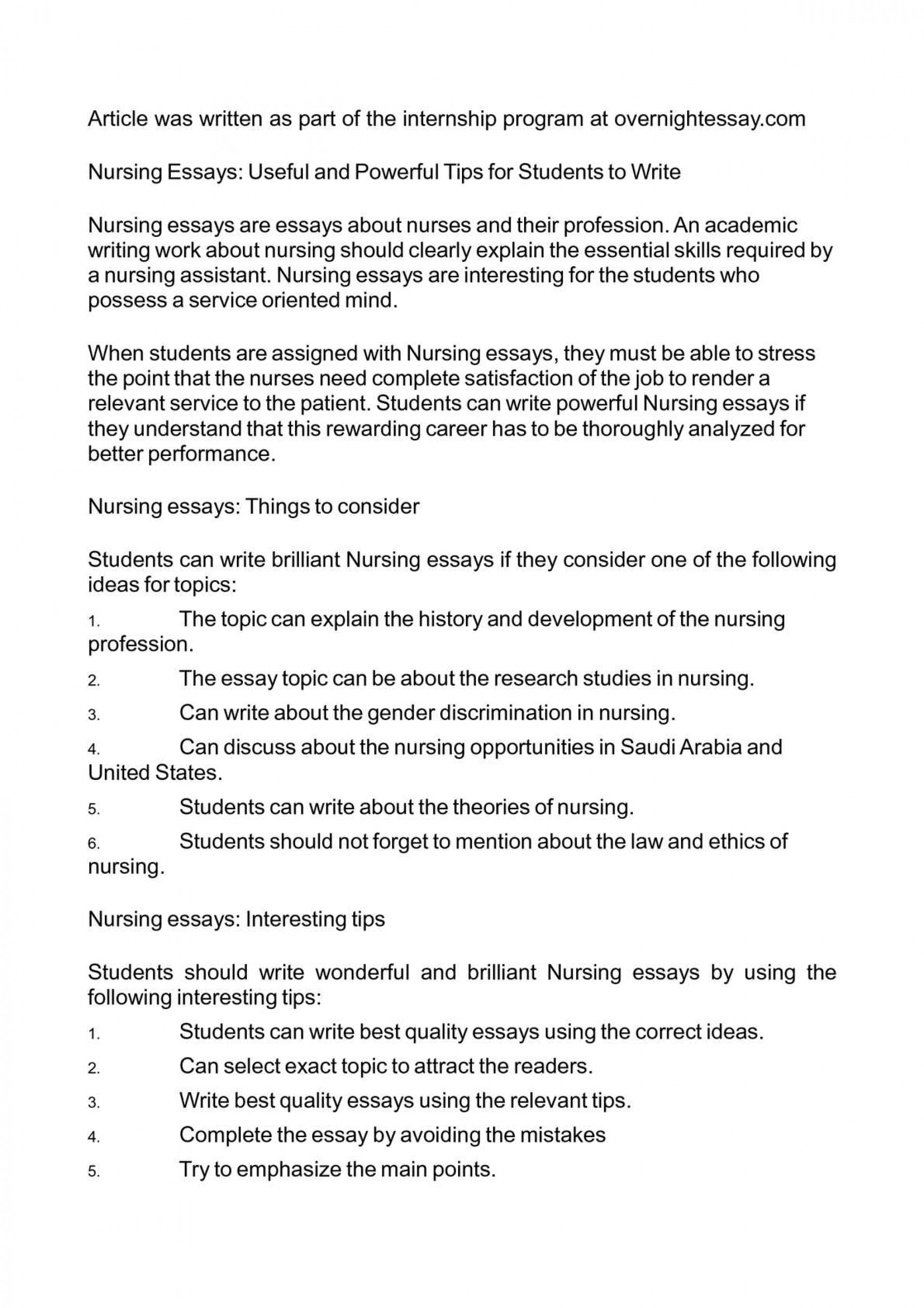 003 P1 Essay Example On Nursing As Shocking A Profession Professionalism In Pakistan 1920