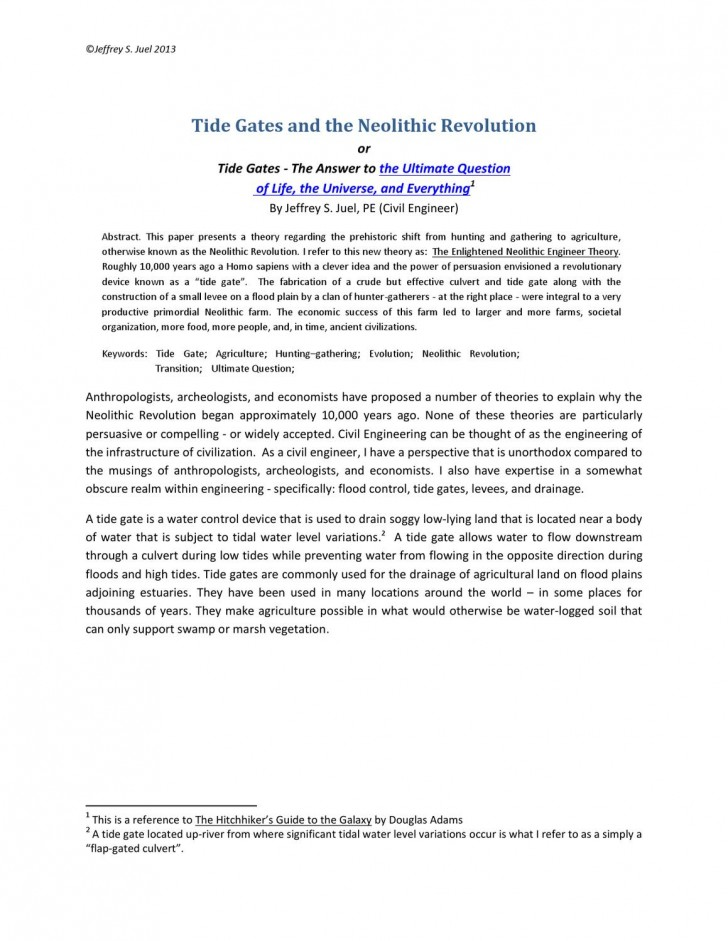 003 Page 1 Essay Example Neolithic Fearsome Revolution Question Pdf Thematic 728