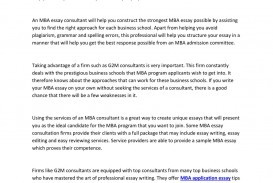 003 Page 1 Mba Essay Consultant Outstanding Best Consultants Application
