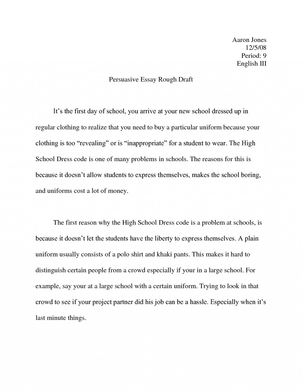 003 Persuasive Essay Example High School Examples Of Essays For Template Writing Descriptive How To Write Great Custom Sites Frightening Short Sample Pdf Large