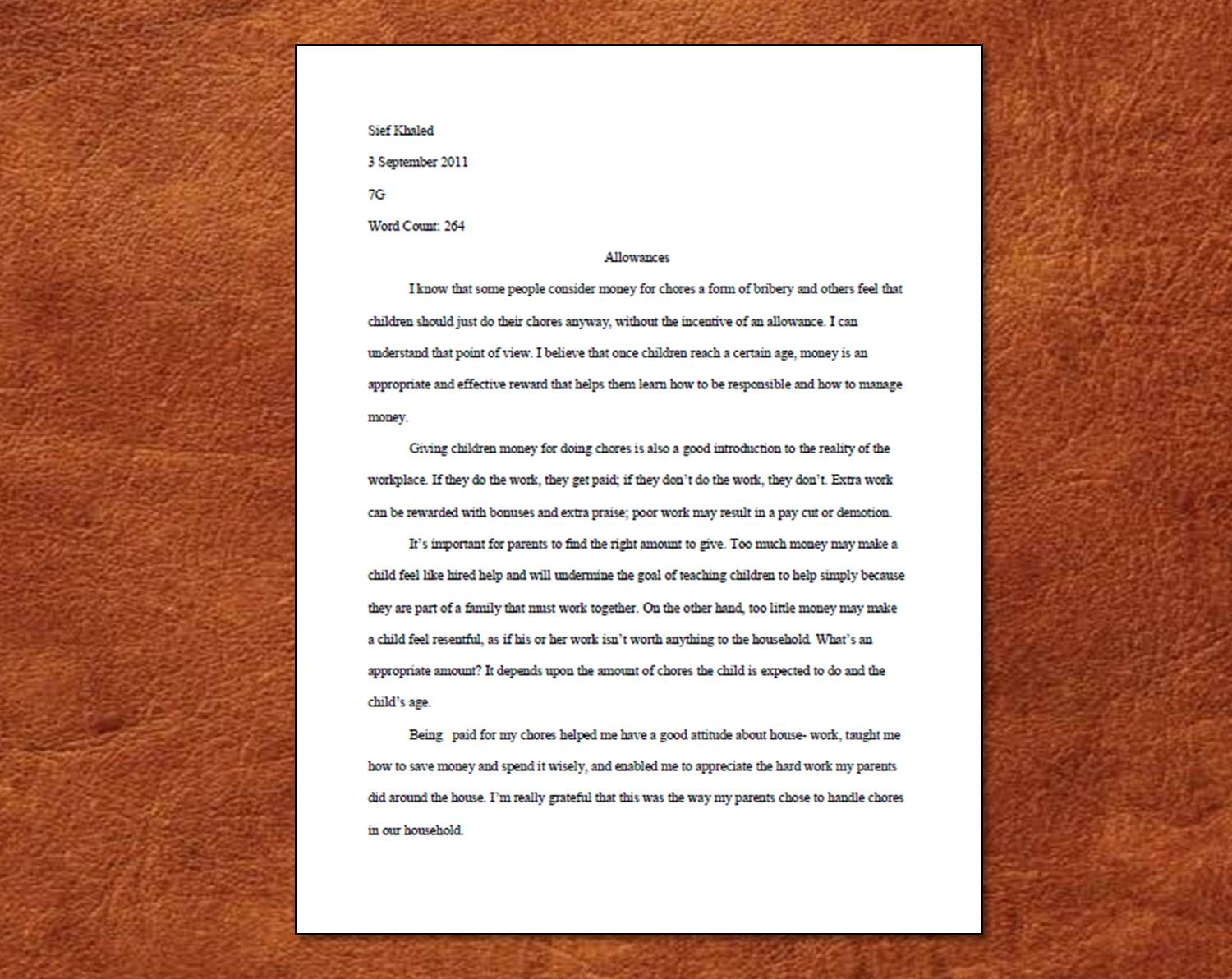 003 Picture1 Essay Example Proper Formidable Form Paper Format Reflection Full
