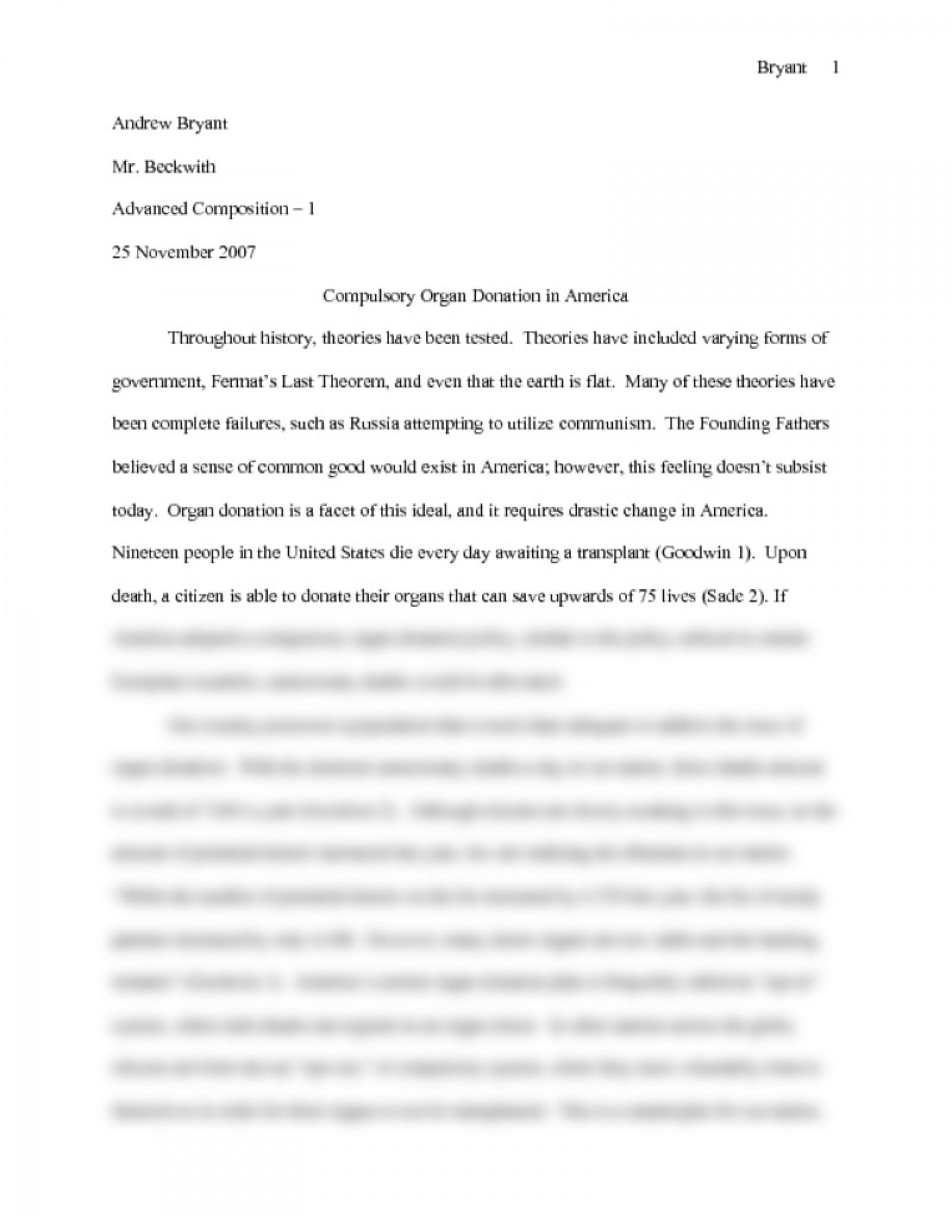 003 Preview0 Organ Donation Essay Top Transplant Argumentative Persuasive Introduction Outline 1920