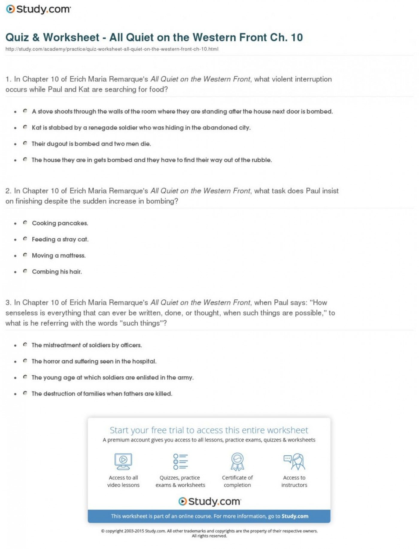 003 Quiz Worksheet All Quiet On The Western Front Ch Essays Compare And Contrast Essay Writing Help Buy Your20 1024x1342 Frightening Questions Topics 1400