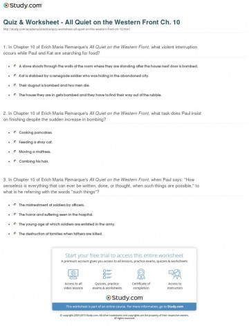 003 Quiz Worksheet All Quiet On The Western Front Ch Essays Compare And Contrast Essay Writing Help Buy Your20 1024x1342 Frightening Questions Topics 360