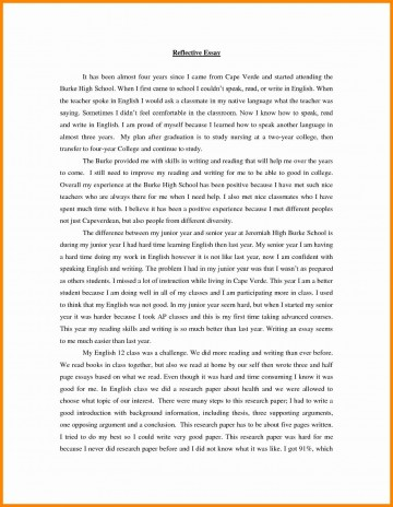 003 Reflective Essay Example Top Writing Site For School English On Critical Readin Reading Amazing Format Apa Rubric Guidelines With Scoring 360