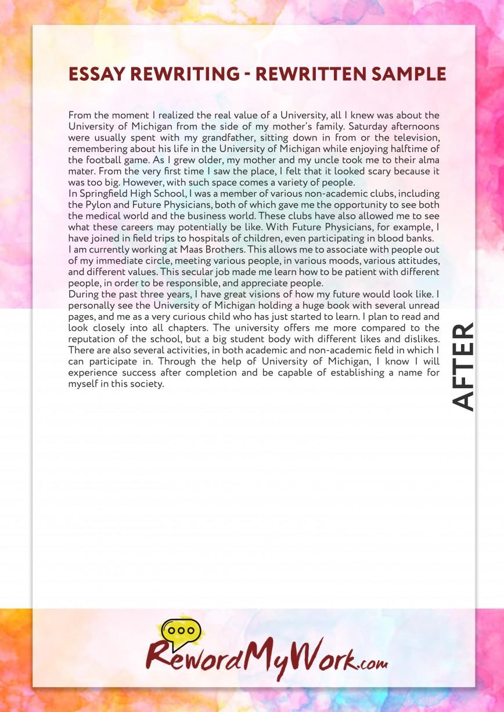 003 Reword Essay Example Amazing Generator Software