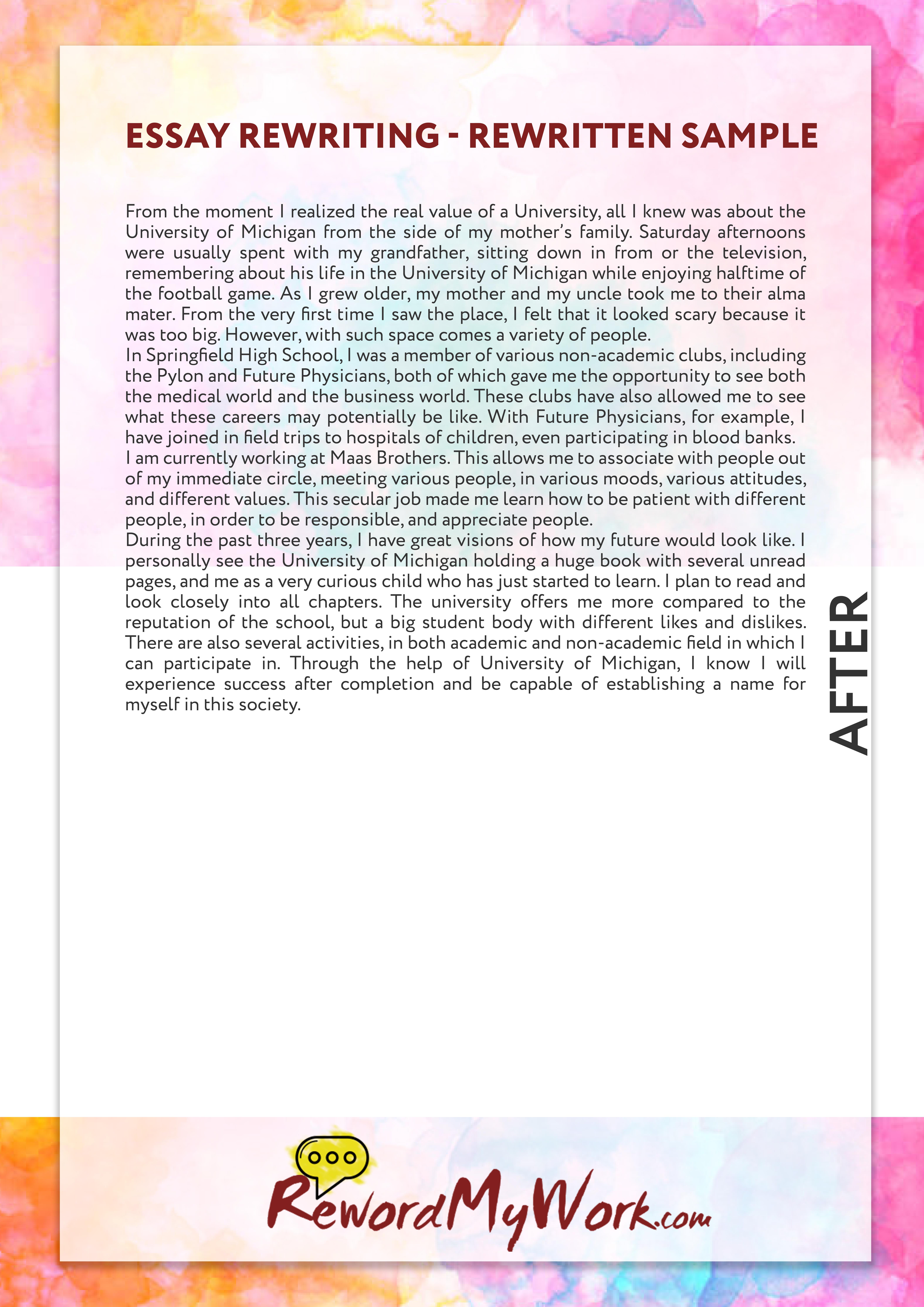 003 Reword Essay Example Amazing Generator Free Full