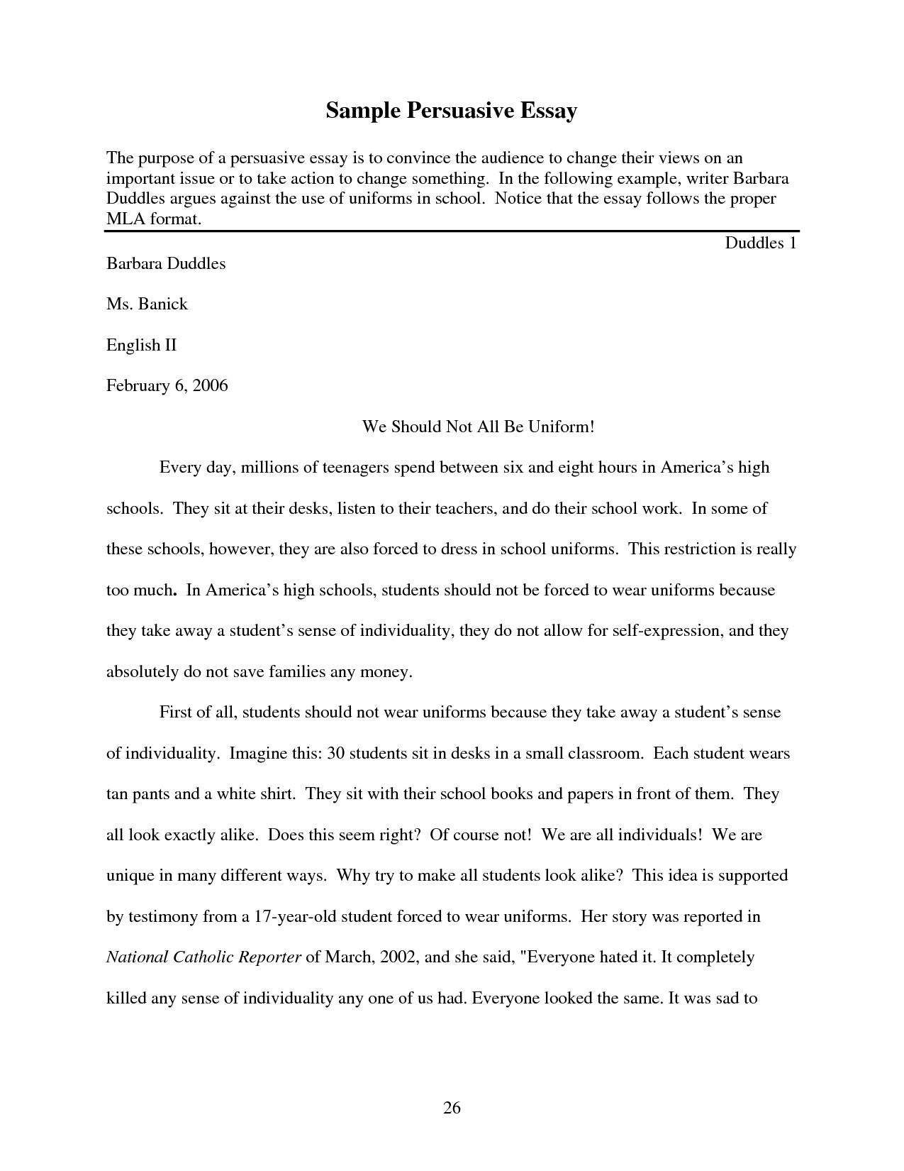003 School Uniform Essay Example Sensational Is Compulsory In Hindi Conclusion Full