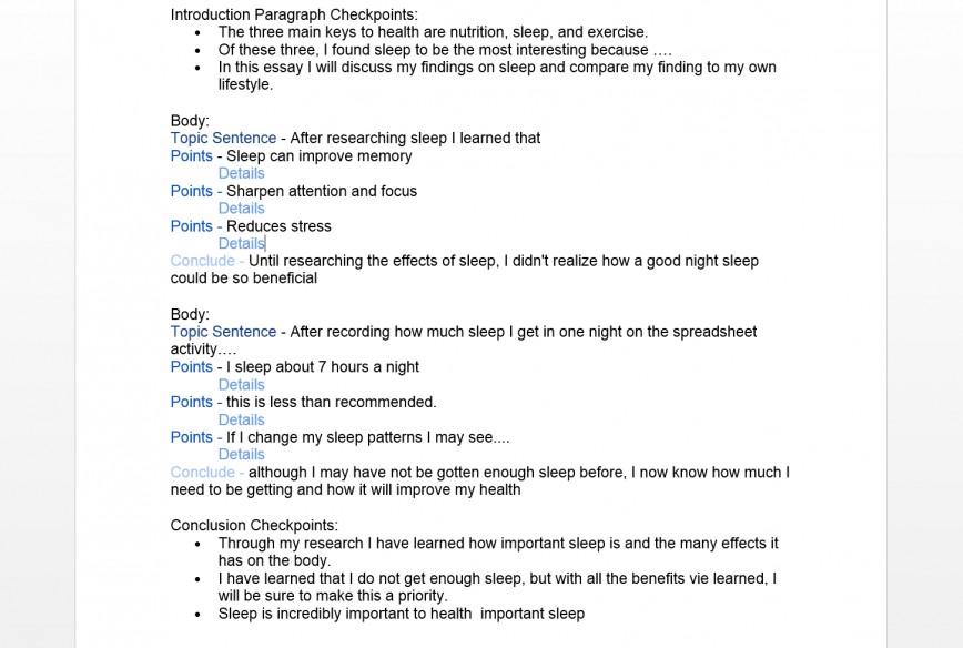 essay on benefits of sleep