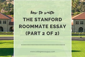003 Stanford Roommate Essay Best Example Accepted Examples