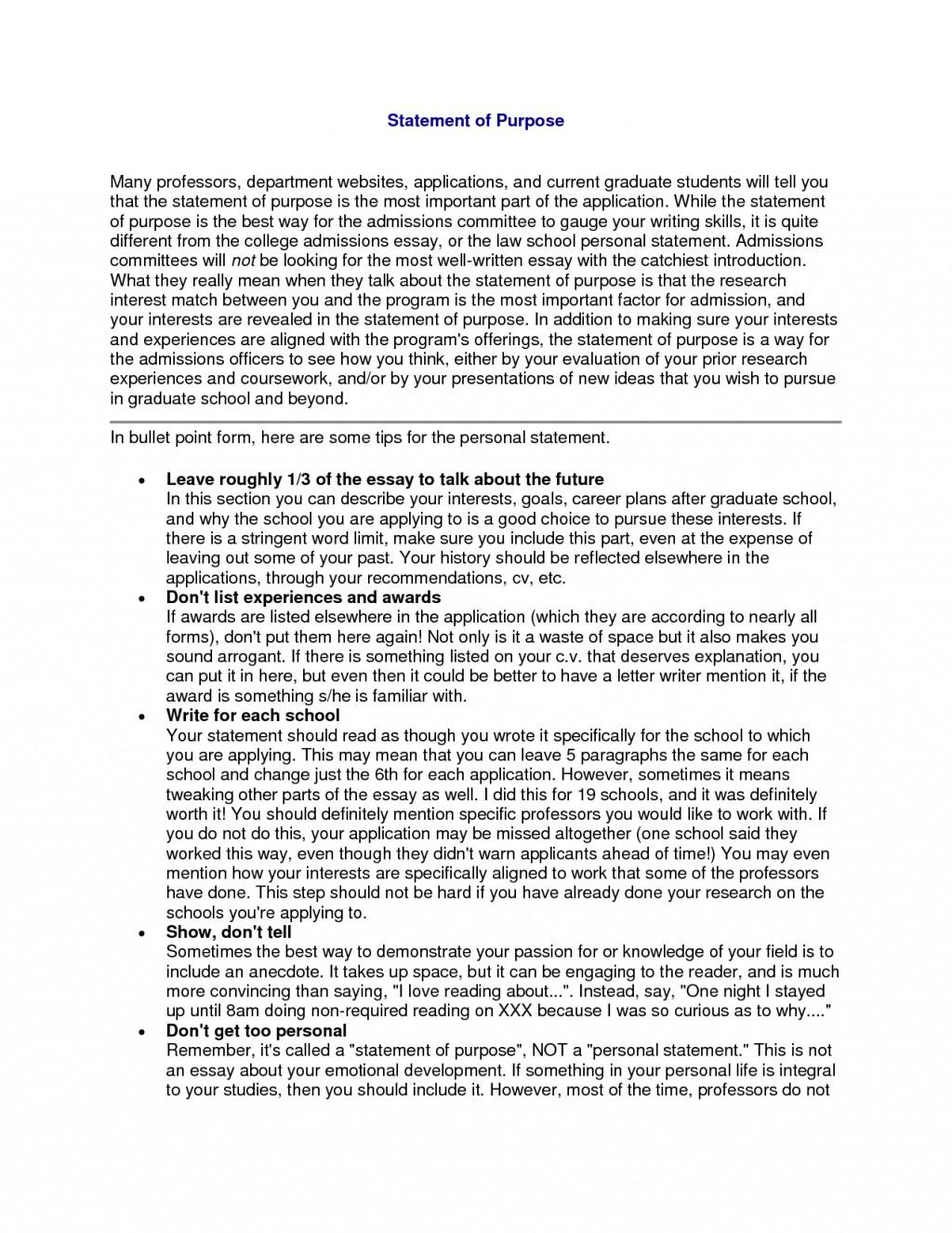 003 Statement Of Purpose Sample Essays Essay Example Graduate School Fearsome Nursing Education Mba Large