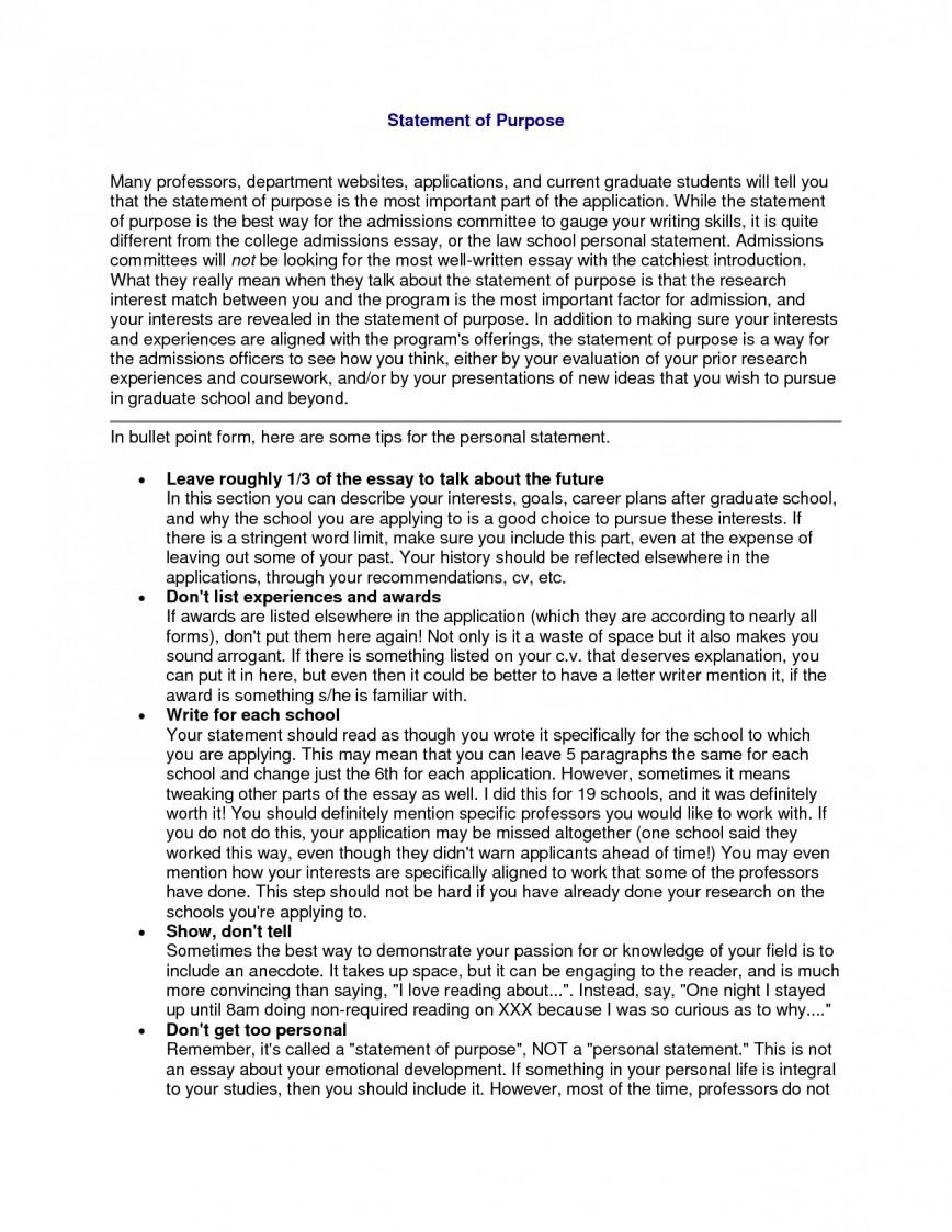 003 Statement Of Purpose Sample Essays Essay Example Graduate School Fearsome Education Nursing