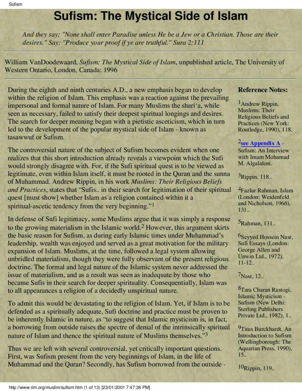 003 Sufi Essays Essay Example Page 1 Singular Seyyed Hossein Nasr Pdf Large