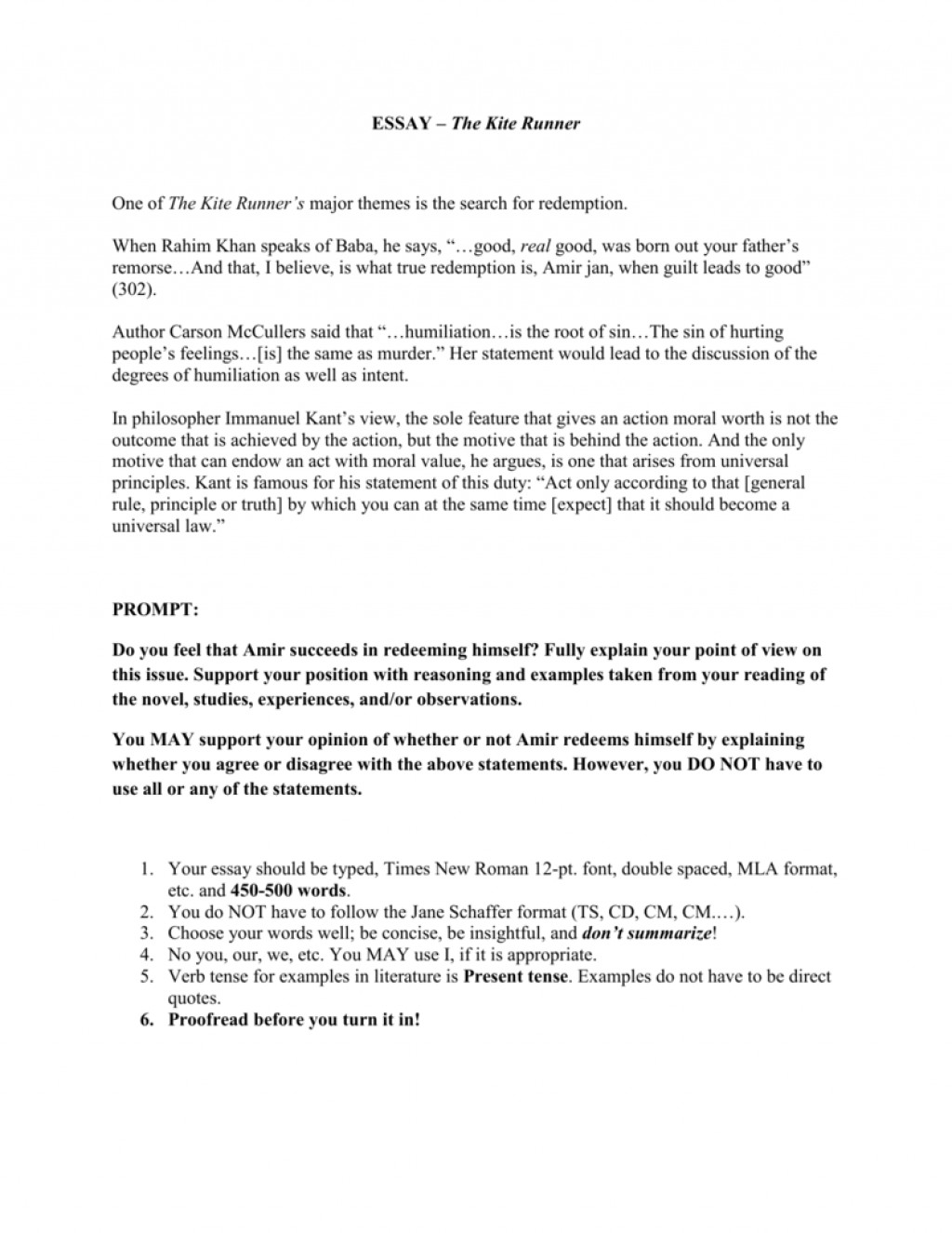 003 The Kite Runner Essay Example 008813033 1 Unforgettable Discussion Questions And Answers Literary Thesis Statements Book Large