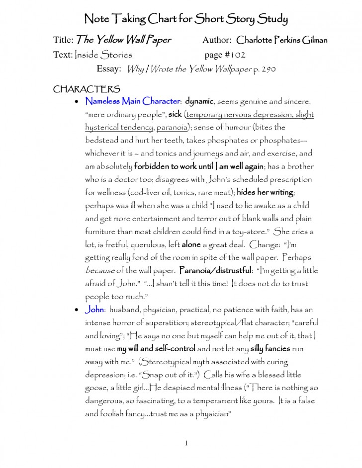 003 The Yellow Wallpaper Essay Qbyjop Top Feminism Research Paper Outline Conclusion 728