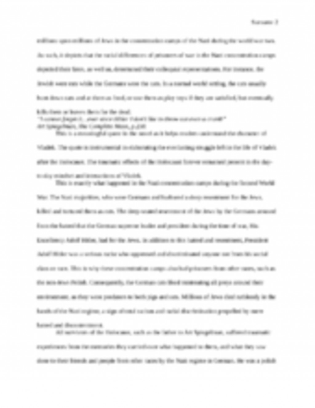 003 The20complete20maus 1page1 Essay Example On Singular Maus Mausam E Sarma In Hindi Bahar Urdu Large
