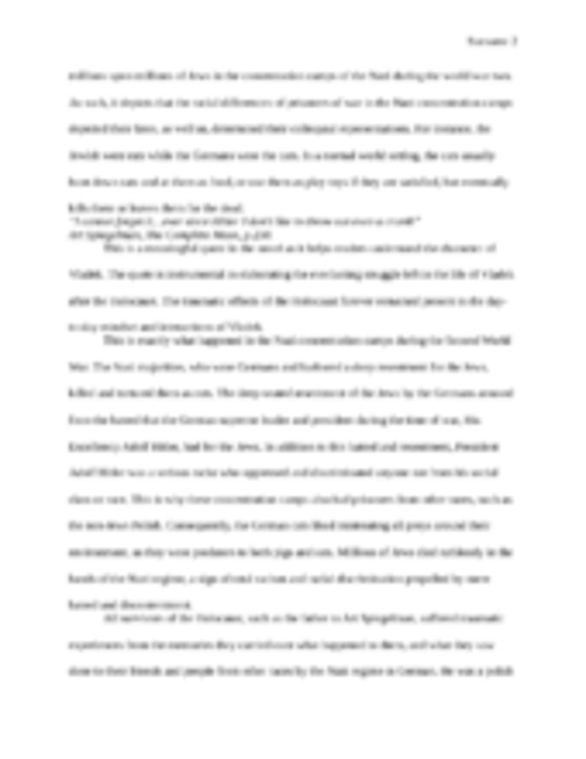 003 The20complete20maus 1page1 Essay Example On Singular Maus Mausam E Sarma In Hindi Bahar Urdu Full