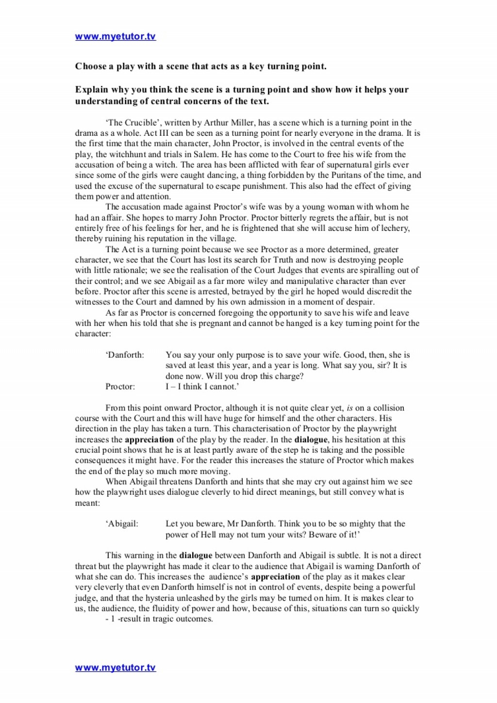 003 Thecrucible Keysceneexemplaressay Phpapp01 Thumbnail Essay On The Crucible Phenomenal And Red Scare Reputation Questions For Act 1 Large