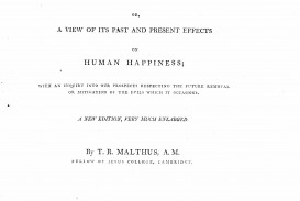 003 Thomas Malthus An Essay On The Principle Of Population 2fol Marvelous Summary Analysis Argued In His (1798) That