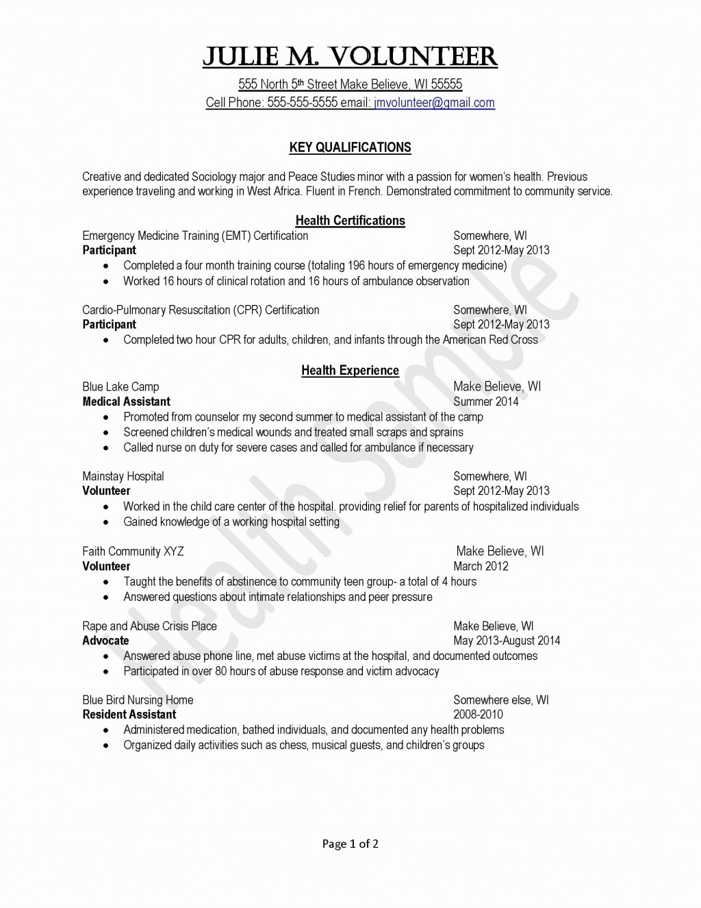 003 Volunteer Experience Essay Elementary School Resume Free Community Work Hospital Coordinator Job Description Church Example Coordinatormission Custom Template Definition Surprising Examples Nursing Home Large
