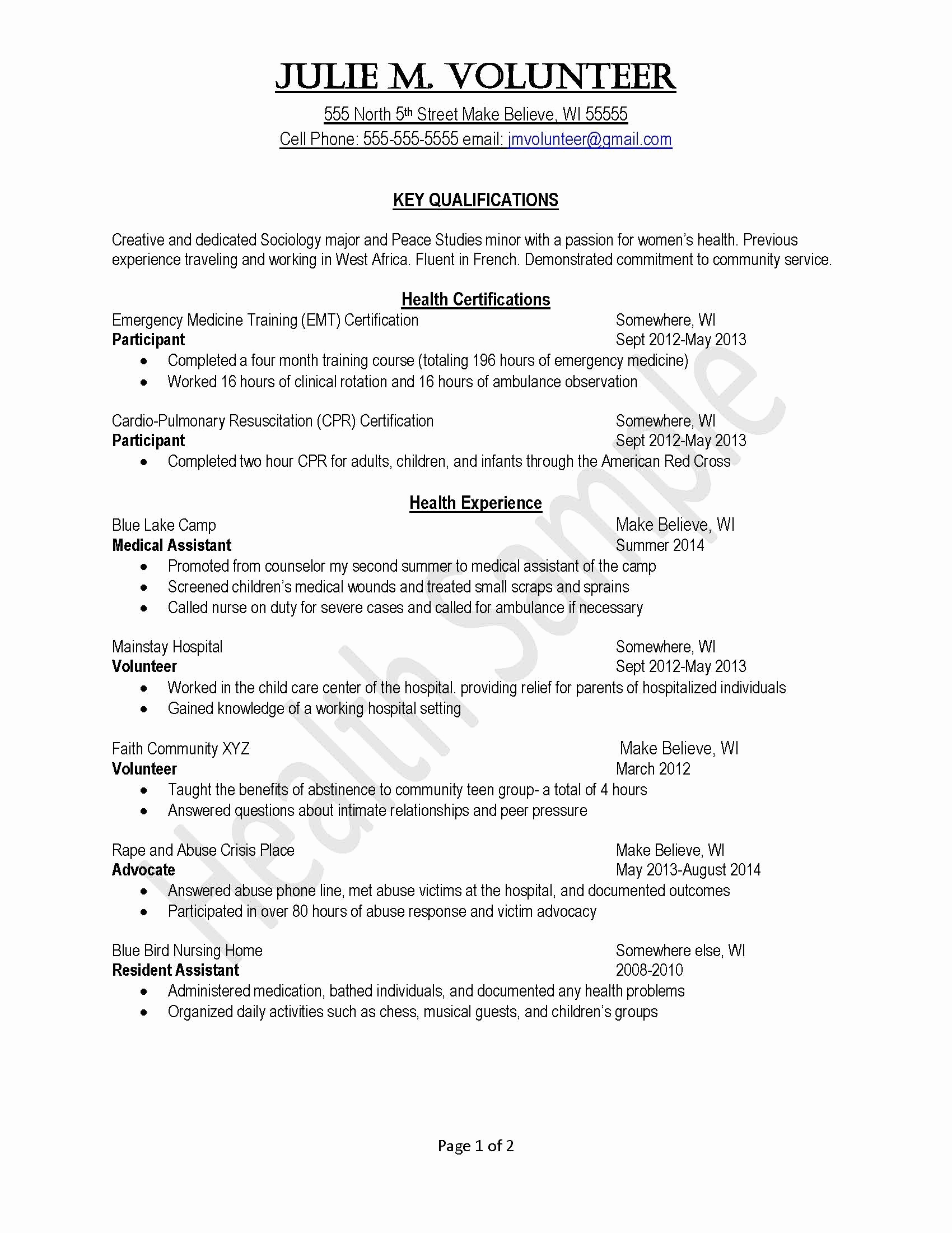 003 Volunteer Experience Essay Elementary School Resume Free Community Work Hospital Coordinator Job Description Church Example Coordinatormission Custom Template Definition Surprising Describe Your Examples Full
