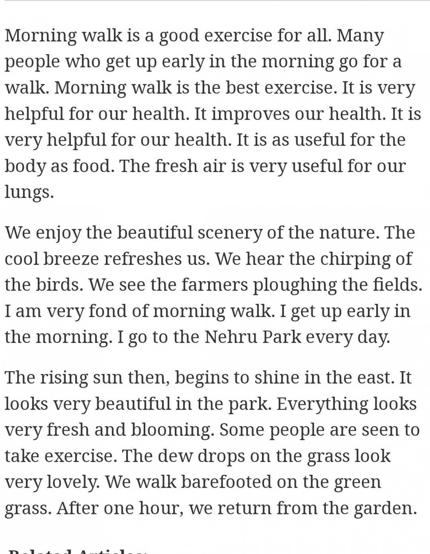 003 Walk In The Park Essay Example Remarkable A Descriptive 1400