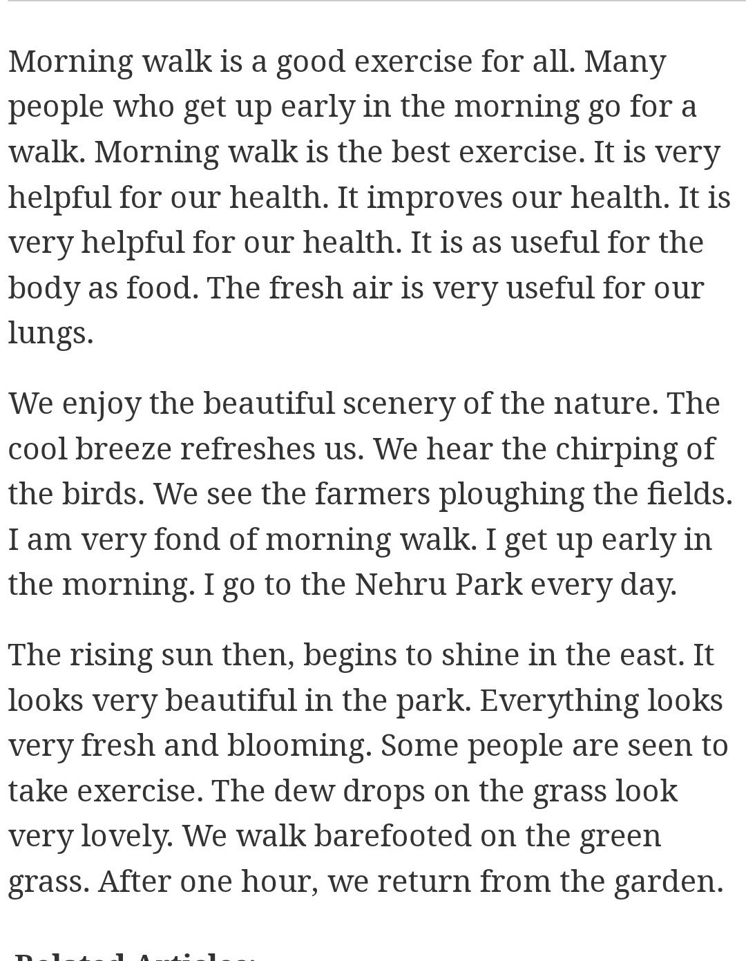 003 Walk In The Park Essay Example Remarkable A Descriptive Through