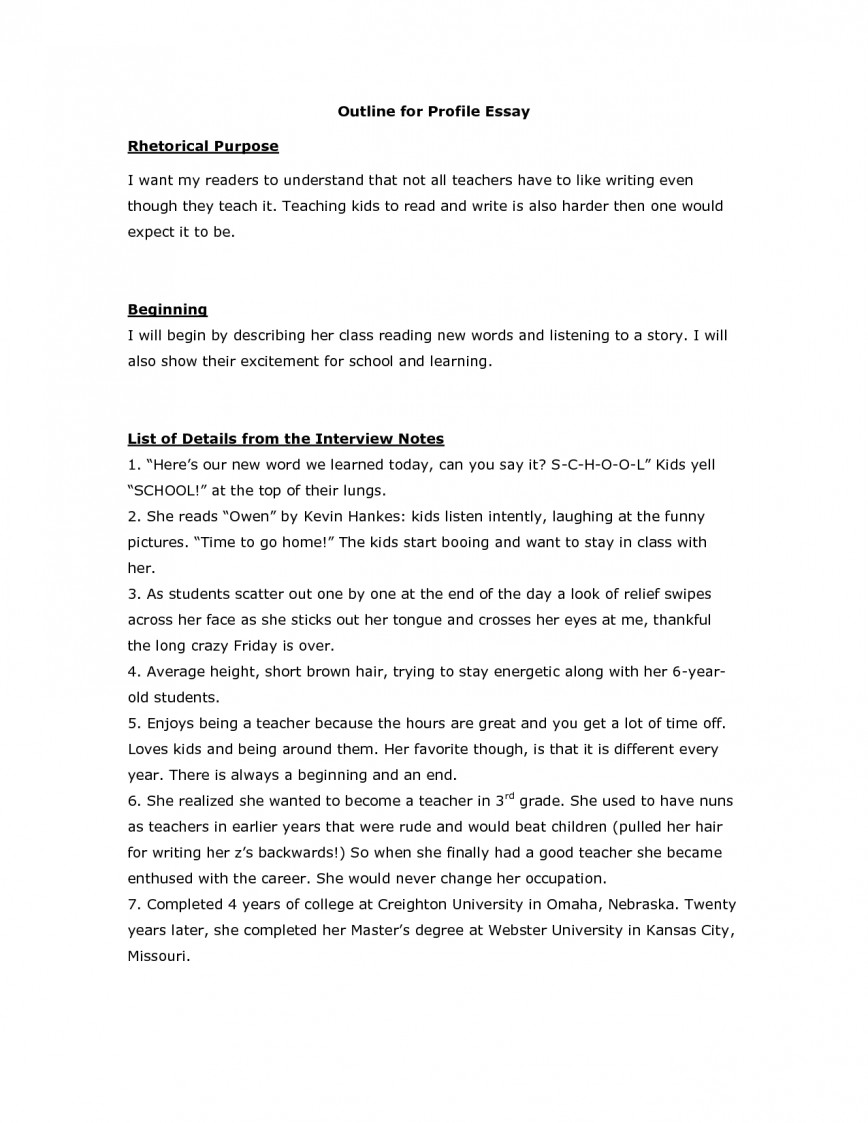 003 Writing Profile Essay Essays On Person How L Example Staggering Examples A Place Interview