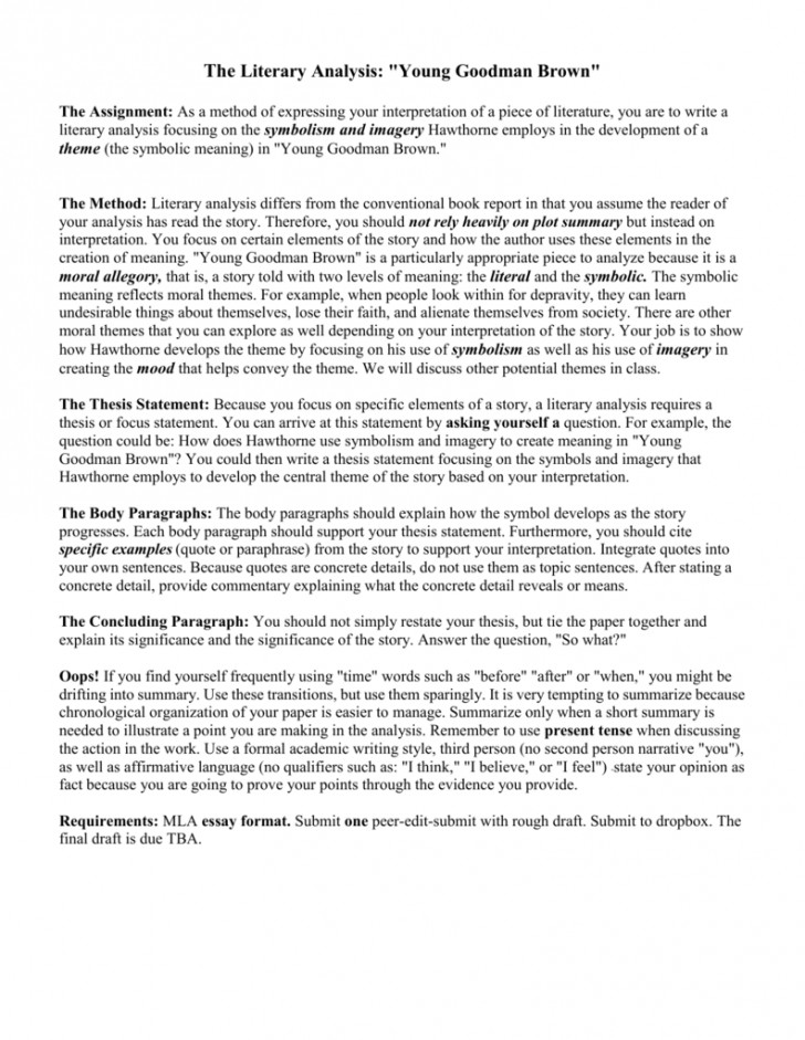 young goodman brown symbolism worksheet